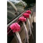 Výzdoba svadobného automobilu