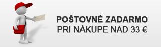 Poštovné zadarmo pri nákupe nad 33€